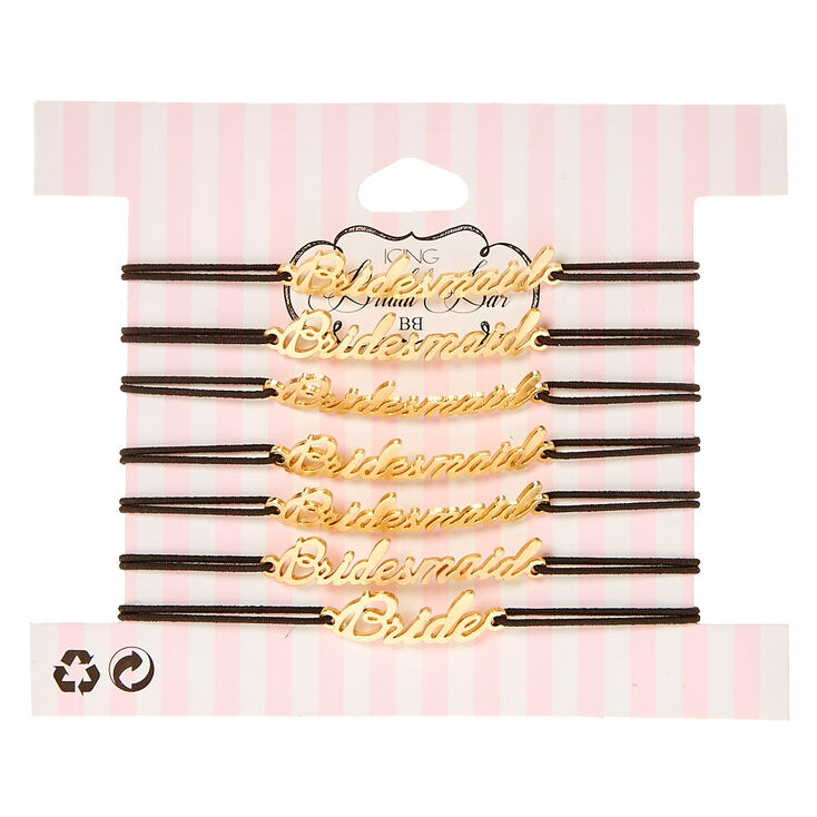 7 Pack Bridesmaid & Bride Bracelet Set,