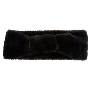 Plush Ear Muff Headwrap - Black,