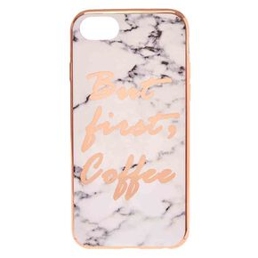 Coffee First Marble Print Phone Case - Fits iPhone 6/7/8,