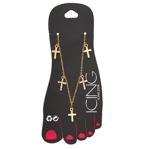 Gold Cross Chain Anklet,