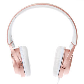 Metallic Headphones - Rose Gold,