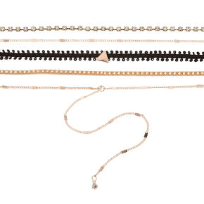 5 Pack Assorted Choker Necklaces,