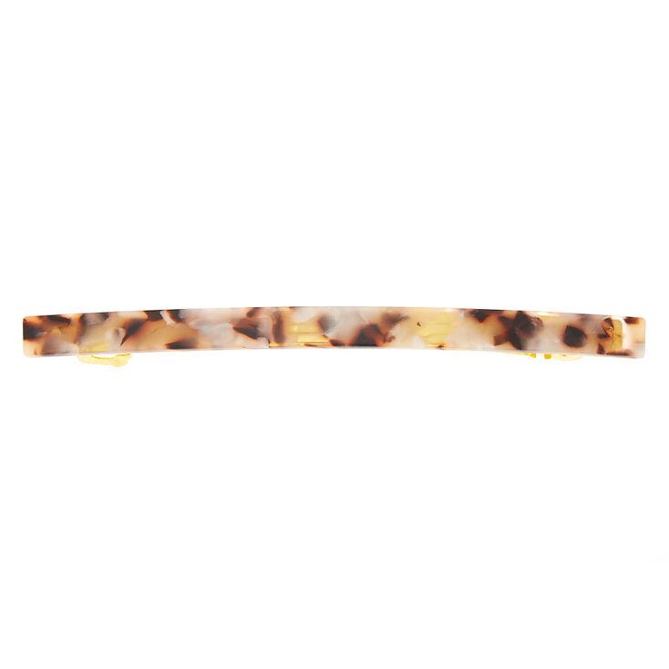 Skinny Tortoiseshell Hair Barrette - Brown,