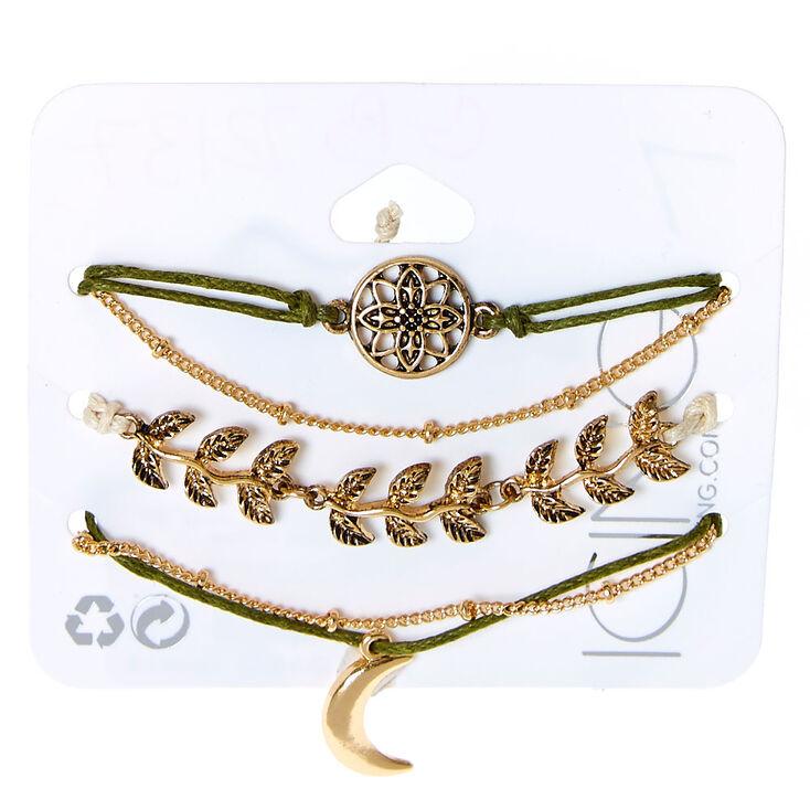 Mother Nature Bracelets - Green, 5 Pack,