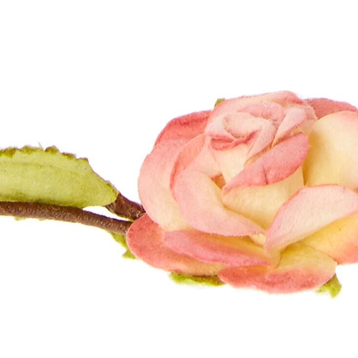 Pink Rosette Flower Flower Crown Crown,