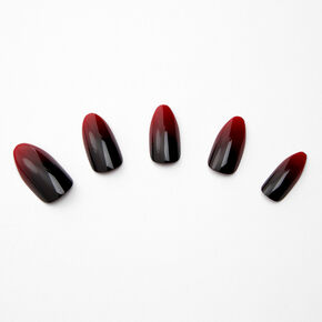 Red & Black Ombre Stiletto Faux Nail Set - 24 Pack,