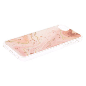 Marble Rose Gold Flake Phone Case - Fits iPhone 6/7/8/SE,