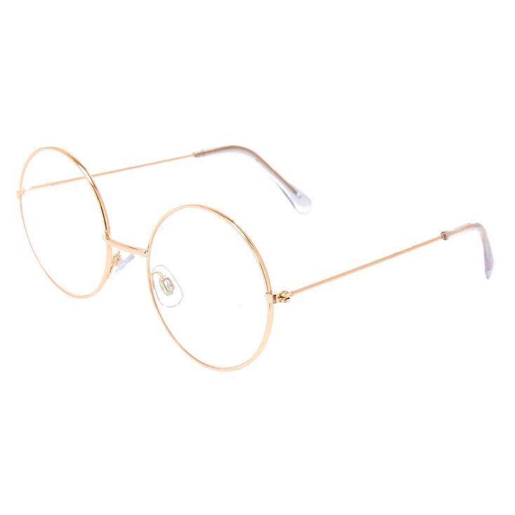 Retro Sunglasses | Vintage Glasses | New Vintage Eyeglasses Icing Gold Round Circle Frames $12.99 AT vintagedancer.com