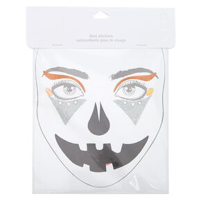 Jack-O-Lantern Glitter Face Stickers,