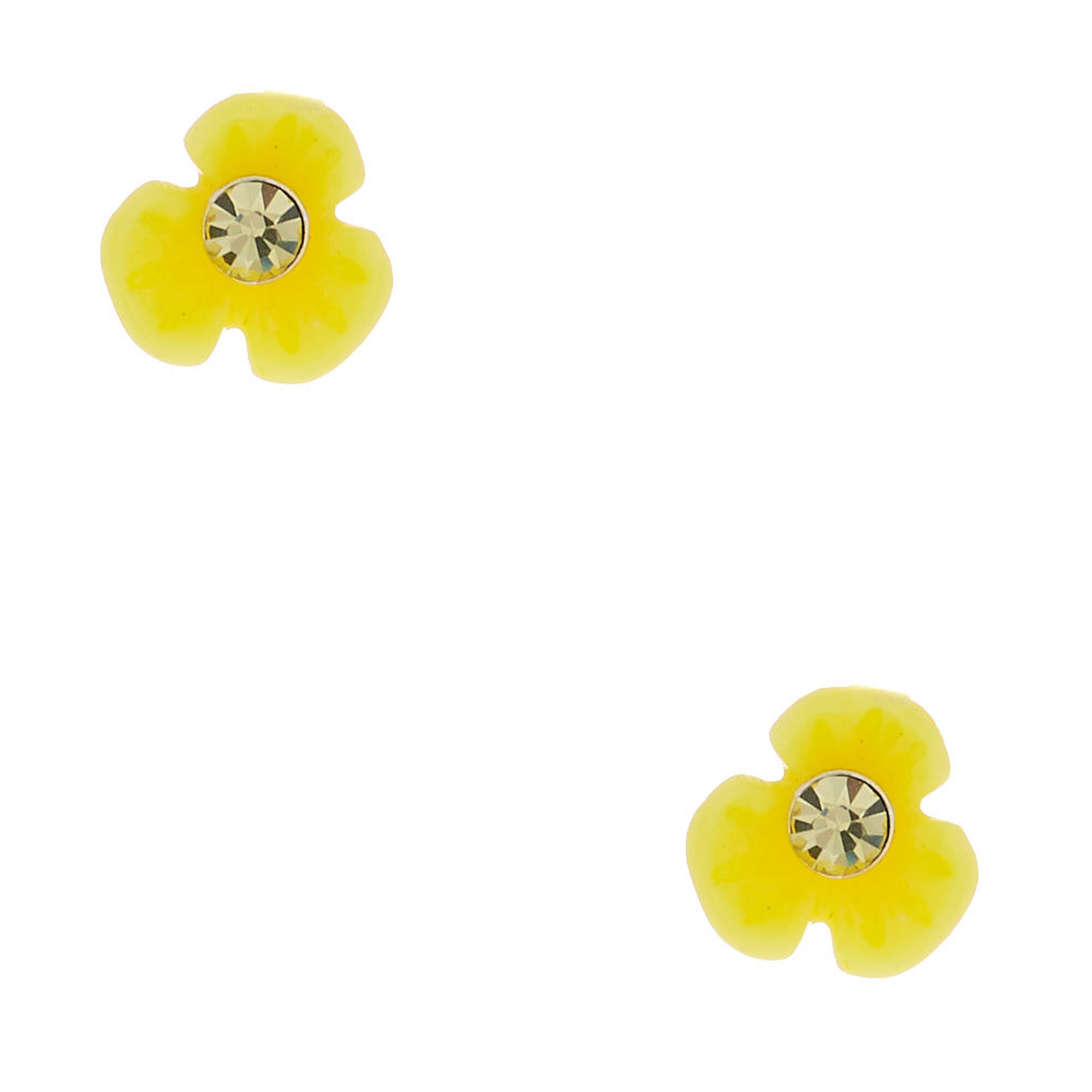ce0567105 Sterling Silver Daisy Stud Earrings - Yellow | Icing US