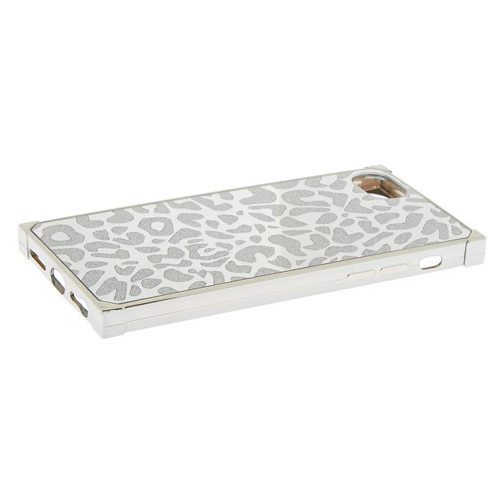 Silver Leopard Square Phone Case - Fits iPhone 6/7/8/SE,