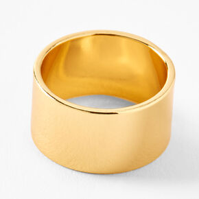 18kt Gold Plated Refined Wide Ring,