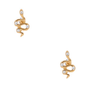 18kt Gold Plated Snake Stud Earrings,