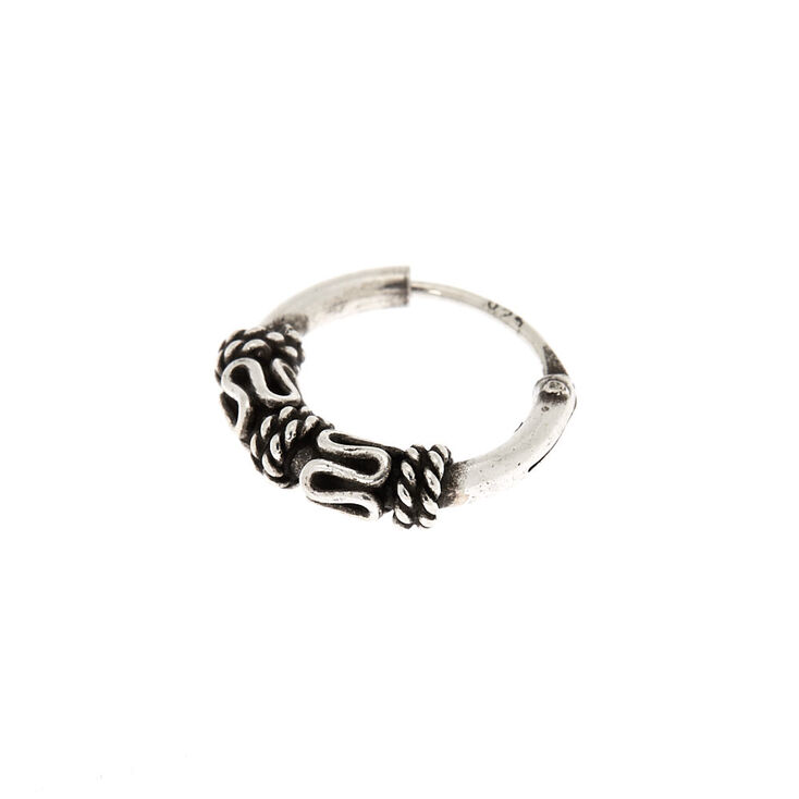 Sterling Silver 22G Filigree Nose Ring,