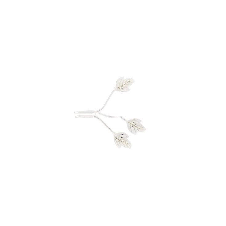 Silver Three Leaf Ear Cuff,