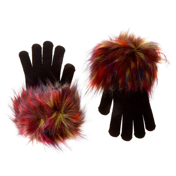 Audrey Faux Fur Gloves,