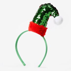 Sequin Elf Hat Headband - Green,