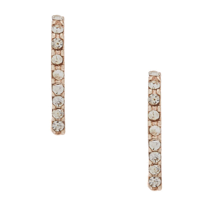 Rose Gold Crystal Ear Suspender Earrings,