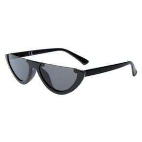 Rimless Top Sunglasses - Black,