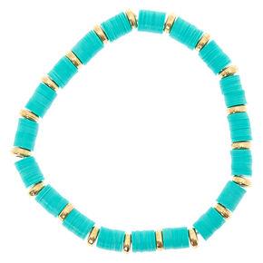 Turquoise Disk Stretch Bracelet,