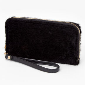 Furry Wristlet - Black,