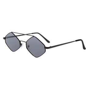 Diamond Geometric Sunglasses - Black,