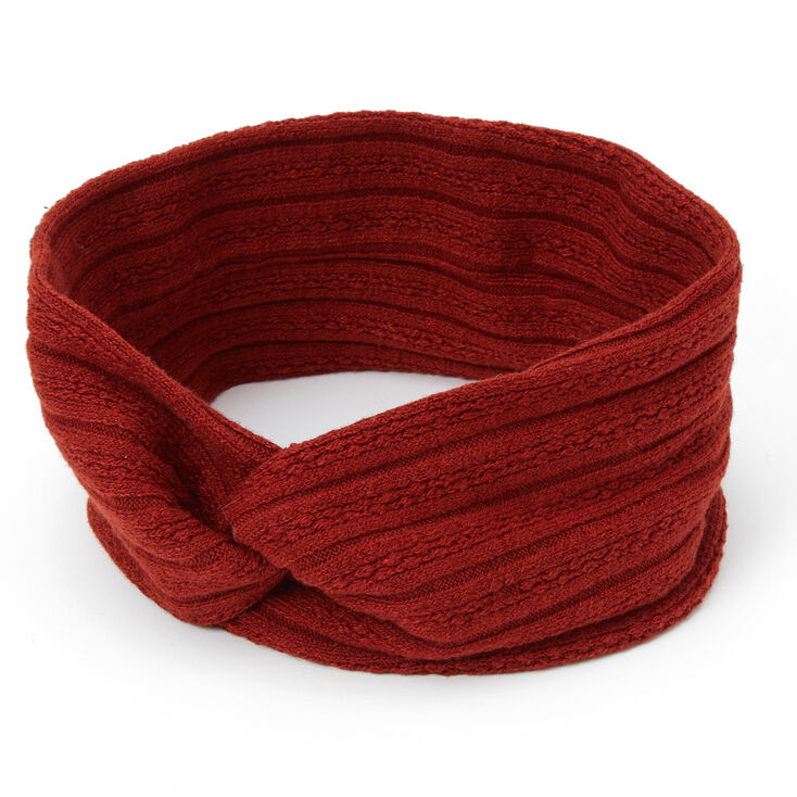 Sweater Twisted Headwrap - Rust,