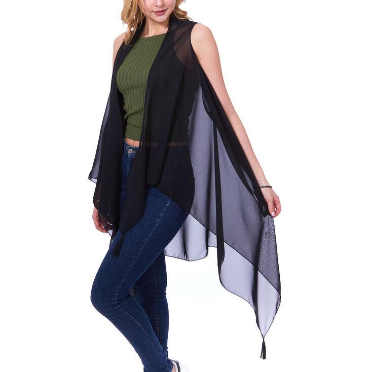 Black Kimono with Tassels,