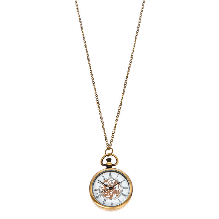 Bronze Finish Antique Watch Necklace,