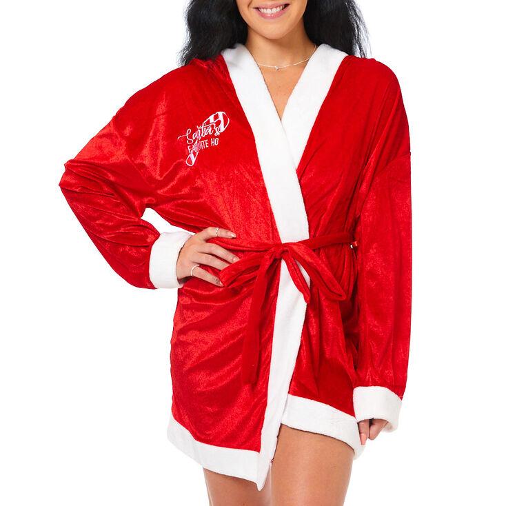 Santa's Favorite Ho Robe - Red,