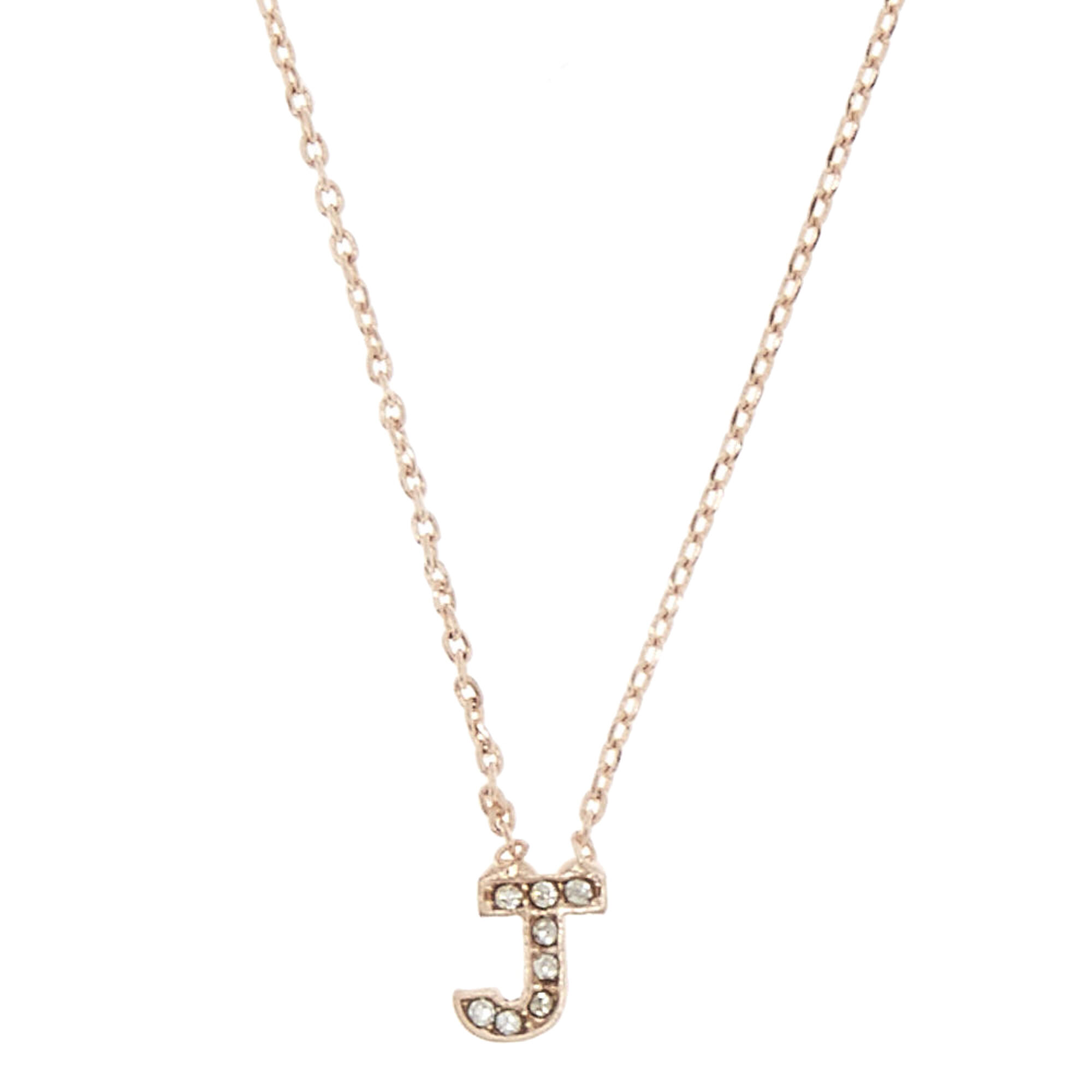 Rose gold tone j initial pendant necklace icing us rose gold tone quotjquot aloadofball Images