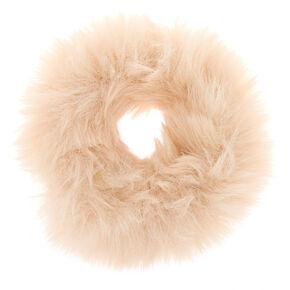 Faux Fur Hair Scrunchie - Ivory,