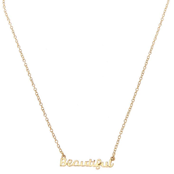 Beautiful Script Necklace,
