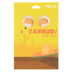 Gabba Goods® Taco Earbuds With Mic - Orange,