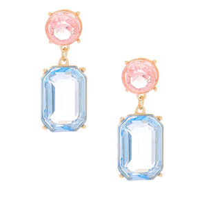 "1"" Pastel Shine Geometric Drop Earrings,"