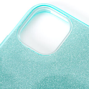 Teal Glitter Protective Phone Case - Fits iPhone 11,