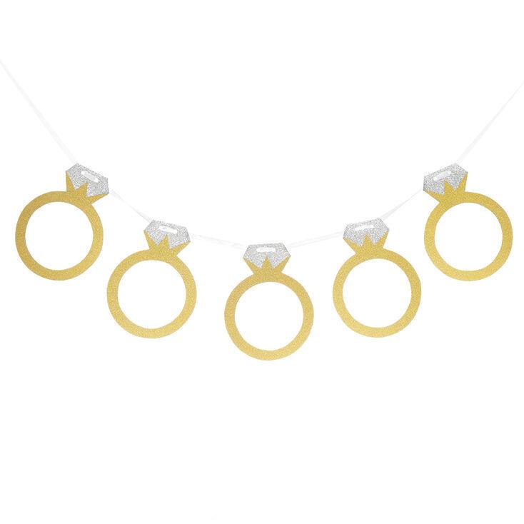 Glitter Ring Banner - Gold,