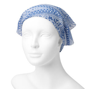 Blue Print Scarf Headwrap,