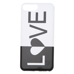 Black & White Love Phone Case - Fits iPhone 6/7/8 Plus,