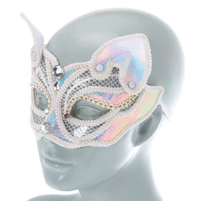 Holographic Cat Mask - White,