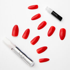 Glossy Stiletto Faux Nail Set - Red, 24 Pack,