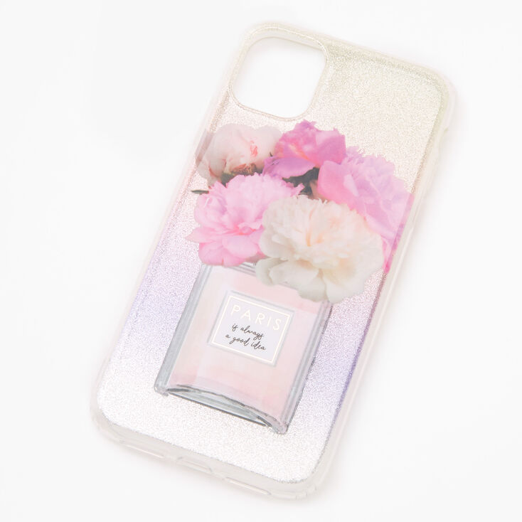 Paris Perfume Bottle Glitter Phone Case - Fits iPhone 11,
