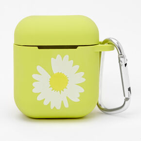 Daisy Neon Green Earbud Case Cover - Compatible with Apple AirPods®,