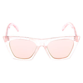 Cat Eye Marble Sunglasses - Pink,