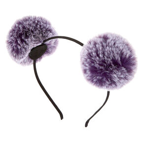 Ombre Pom Pom Ears Headband - Purple,