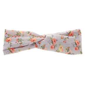 Grey Roses Headwrap,