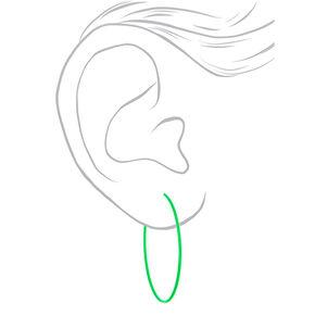 Mixed Metal 60MM Neon Hoop Earrings - 3 Pack,