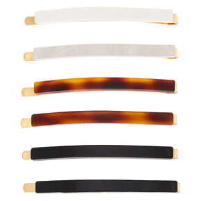 Neutral Tortoiseshell Hair Pins - 6 Pack,