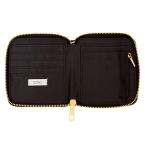 Heart Houndstooth Mini Zip Wallet,
