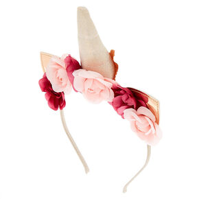 Rose Gold Unicorn Flower Crown Headband,